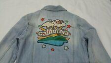 Hollister women's light wash small Embroidered California denim jacket.