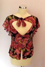 Karen Millen Women's Floral Silk Waist Length Tops & Shirts
