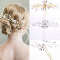Fashion Women Bridal Hair Accessories Pearl Flower Pin Stick Wedding Jewelry