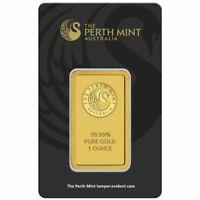 1 oz Perth Mint Gold Bar (New w/ Assay)