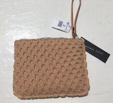 Street Level Womens Pink Woven Front Wristlet With Dust Bag