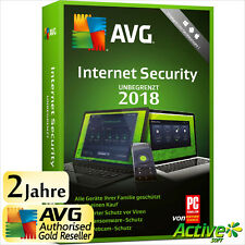 AVG Internet Security 2018 UNBEGRENZT | Alle Ihre Geräte /PC,Mac,Android/ 2017