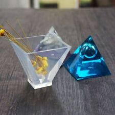 Crystal Making Mold Pendant Pyramid Shape Silicone Mould Ornaments Resin Mold