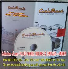 Car'n Truck Vehicle Outlines DVD with 1yr Online update sign design MR Clipart *