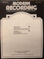 Original McIntosh Modern Recording Product Sound Lab Report - Volume 1 Manual