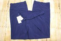 NWT Zella Women's Breeze By Wide Leg Pants Blue Size Medium 29x30 tie front NEW