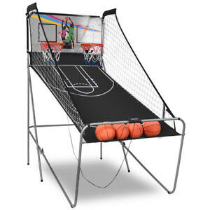Foldable Double Shot Basketball Arcade Game LED Scoring Display W/ Sounds