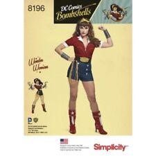 SIMPLICITY SEWING DRESSMAKING PATTERN DC COMICS  WONDER WOMAN  H5 - SIZES 6 - 14