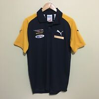 West Coast Eagles Puma AFL Football Polo Shirt Blue Mens Large