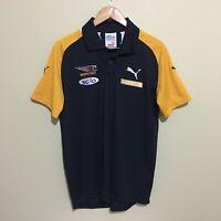 West Coast Eagles Puma AFL Football Polo Shirt Blue Mens Large