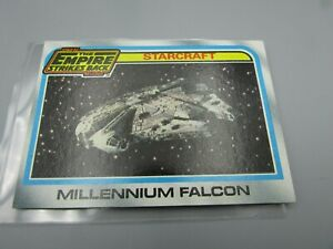 Star Wars trading card 134 millennium falcon empire strikes back starcrafts Mint
