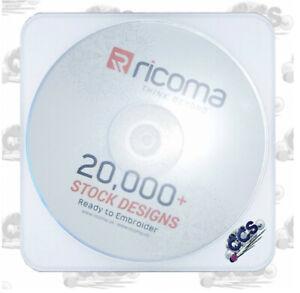 CD mit 20.000 Stickdateien von RiCOMA, gewerblich nutzbar, Stickmotive