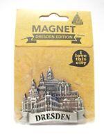 Dresden Frauenkirche Semperoper 3D Metall Magnet Souvenir Germany !