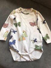 Mini Rodini Baby Girl Organic Butterfly Bodysuit Vest - Size 80/86
