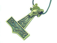 Thor hammer Norse Viking Odin 1160A Butw Pewter with bronze patina Ram's Head
