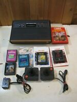 Vintage Atari CX-2600A Game System 2600 With Games - UNTESTED - AS-IS  B3574