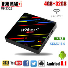 Android 8.1 H96 MAX Plus Tv Box 4GB+32GB RK3328 Quad Core WIFI 4K HD Set Top Box