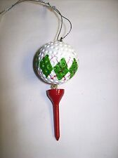 """Golf Ball & Tee"" (Style #2) Ornament by Midwest"