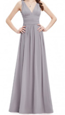 Ever-pretty US Women Long V-neck Prom Gowns Formal Evening Cocktail Party Dress
