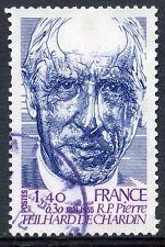 STAMP / TIMBRE FRANCE OBLITERE N° 2152 REVERAND PERE TEILHARD DE CHARDIN