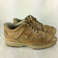 HOGAN INTERACTIVE TAN SHOES SIZE 10