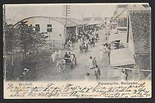 Surinam covers 1909 PPC/Bruiloft(Marriage) sent to Everett