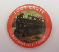 LOOTCRATE COMBAT CRATE LOOT PIN LOOTPINS NOVEMBER 2015 BUTTON BADGE SPILLA NEW