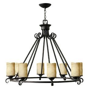 Hinkley Lighting Casa 8 Light Chandelier 1 Tier Foyer, Olde Black - 4308OL