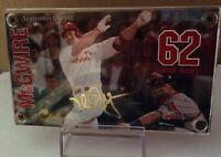 MARK McGWIRE 24K GOLD SIGNATURE 62 HOME RUN CARD #48534  ~~~ Free Shipping!!  ~~