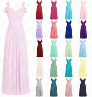 Long Formal Off Shoulder Bridesmaid Ball Gowns Party Cocktail Evening Prom Dress