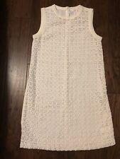 Joe Fresh Womens Cream Off-White Lace Sleeveless Cotton Sheath Dress Size 4