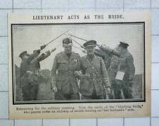1915 Rehearsing For Military Wedding Arch With Swords