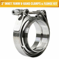 """3"""" inch 76mm V-Band Vband Clamp Stainless Steel flange turbo exhaust downpipe"""