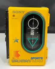 Vintage Sony Walkman Portable Cassette Player sport WM-F45 AM/FM Fully Working