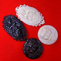 2 Goat Head Satanic Baphomet Carvings Occult Amulets Free Gift 2 Satan Chrams