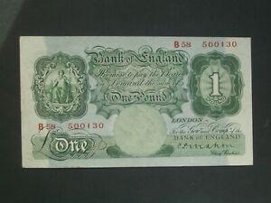 **Nice 'B58'  Mahon £1 'GVF' 1928 BANKNOTE***