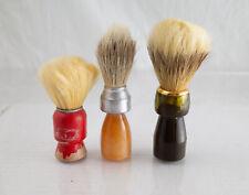 Three Vintage Shaving Brushes