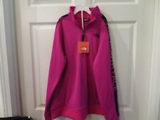 NWT Girls Pink & Black The North Face 1/4 Zip Sweat Shirt, XL