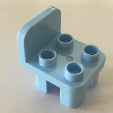 *NEW* Lego DUPLO Furniture  CHAIR MEDIUM BLUE with 4 STUDS Curved Back and Feet