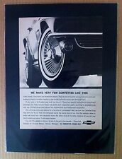 "1965 Chevrolet Corvette GM gift print ""Ready to Display""  car mag ad 1966"