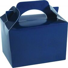 9 Royal Blue Party Boxes - Food Loot Lunch Cardboard Gift Kids weight takeaway