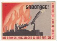 uralte AK Brandschutzwoche wirbt für die Sicherheit des Betriebes, Sabotage!//25