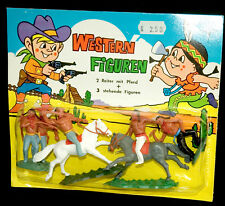 Western personnages Swoppets Hong Kong 70 S INDIENS CAVALIER RARE HORSE + TIMPO Plaque