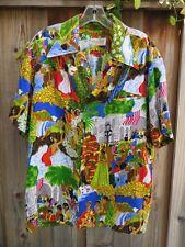 Vintage Waltah Clarkes Hawaiian Shirt Eugene Savage Pomp & Circumstance Print 44