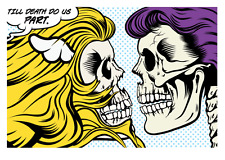 """TIL DEATH DO US (P)ART"" SCREEN PRINT BY D*FACE faile banksy dolk PART/DFACE"