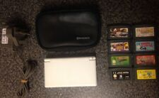Nintendo DS Lite Console 8x GBA Game Cartridges Power Adapter Carry Case Bundle
