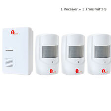 Wireless Motion Sensor Doorbell Entry Chime Detector Alarm Alert With 3 Sensors