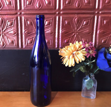 """Cobalt Blue Wine Bottle(s) Empty 750 ml - Display, Home-Brew or Crafts 12"""" tall"""
