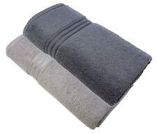 6 Pce Calidad Algodón Egipcio Plata Gris Carbón de Mano Baño Sábana Toallas