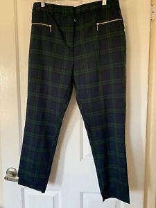 PIMKIE Green Tartan Pants, size 8, Ankle duster.